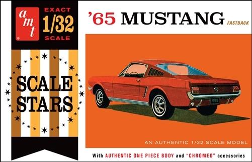 Byggmodell bilar - 65 Ford Mustang Fastback - 1:32 - AMT