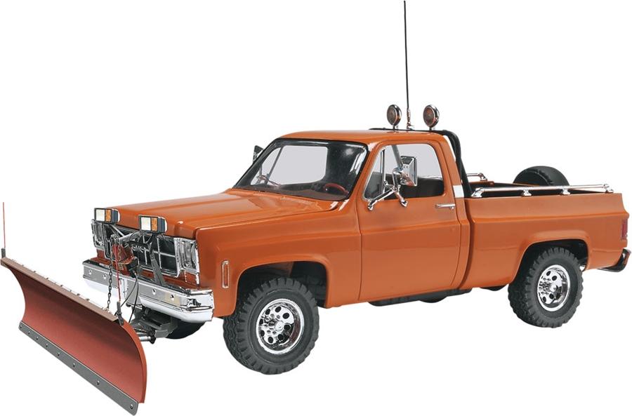 Byggmodell bil - GMC Pickup w Snow Plow?- 1:24