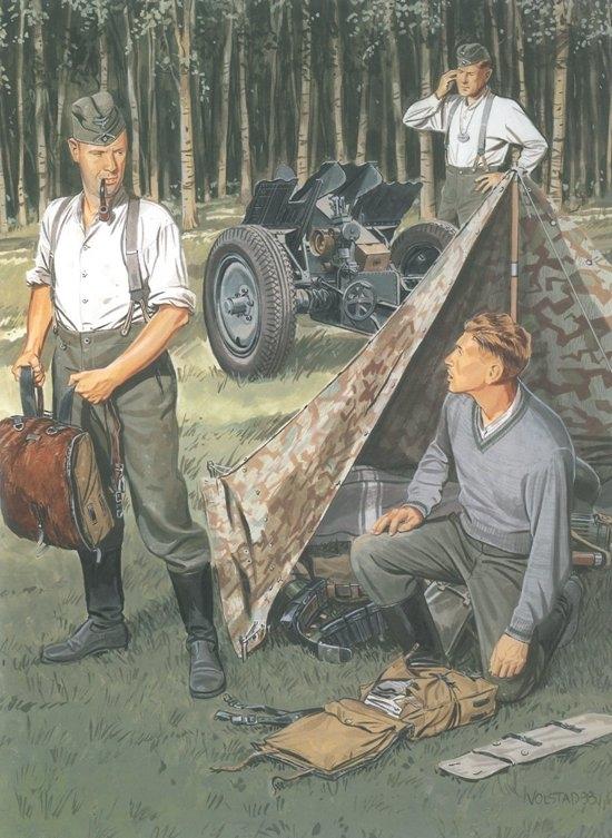 Byggmodell gubbe - German Wehrmacht Bivouac 3 fig. Zeltbahn - 1:35