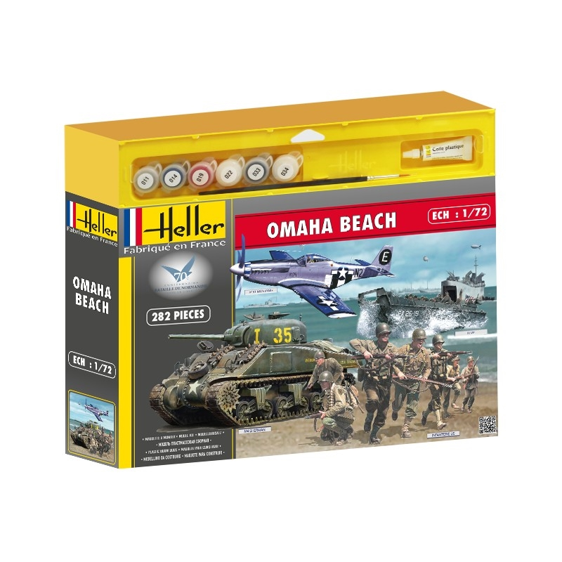 Byggmodell - D-Day Omaha Beach, 4 models in 1 - 1:72