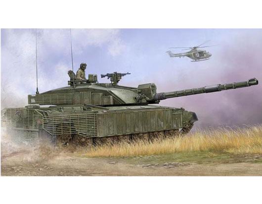Byggmodell stridsvagn - BRITTISH CHALLENGER 2 W. ANTI HEAT FENCE - 1:35 - TR