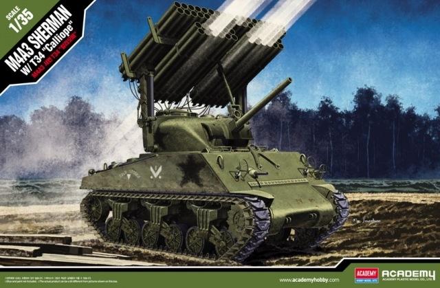 Byggmodell stridsvagn - M4A3 Sherman Calliope - 1:35 - Ac