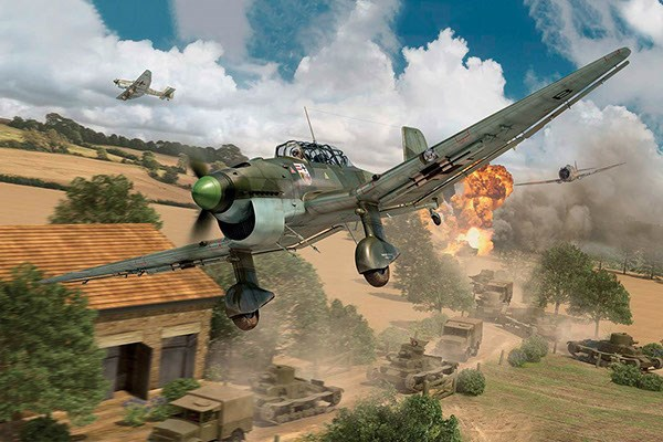 Byggmodell flygplan - Junkers JU87B1 STUKA - 1:48 - IT