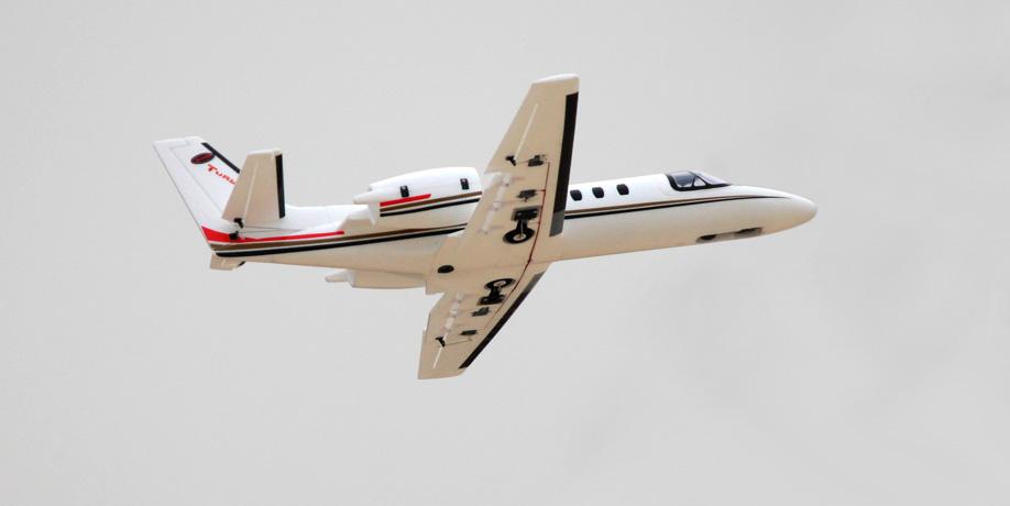 Radiostyrt flygplan - Cessna 550 Turbo 1,2m - BL - 4ch - 2,4Ghz -SRTF