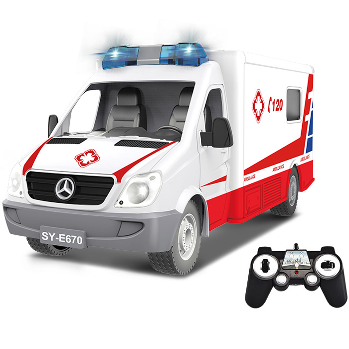 Radiostyrd ambulans - 1:18 - 2,4Ghz - RTR