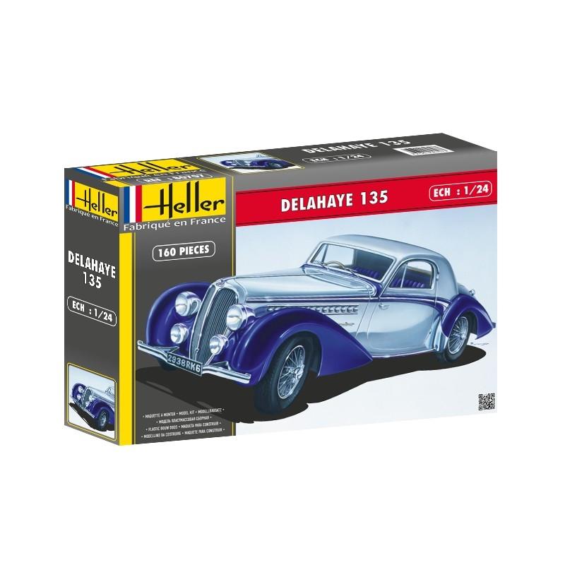 Modell bil - Delahaye 135 - 1:24 - HE