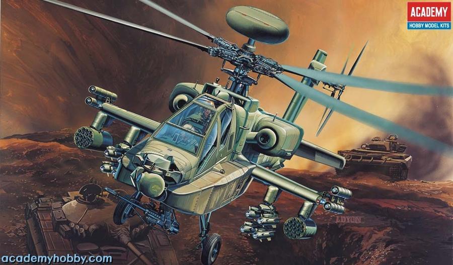 Byggmodell Helikopter - AH-64D Longbow - 1:48 - Ac