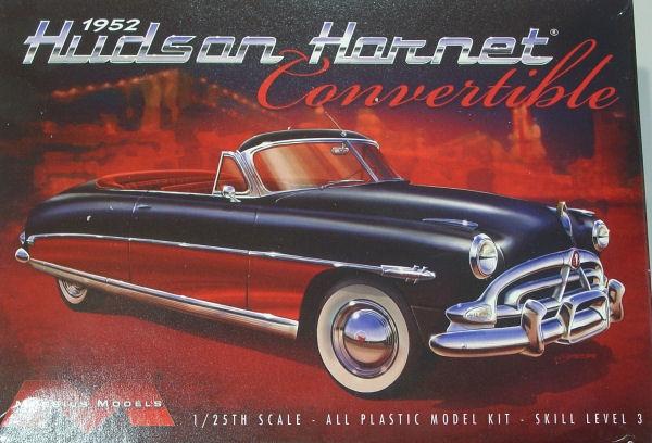 Byggmodell bil - 1952 Huson Hornet Covertible - 1:25 - Moe