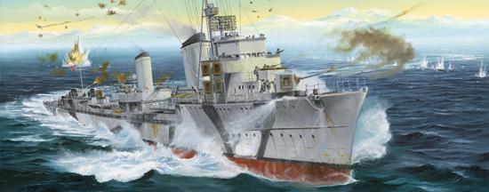 Byggmodell krigsfartyg - Zerstorer Z-30, 1942 - 1:700 - TR