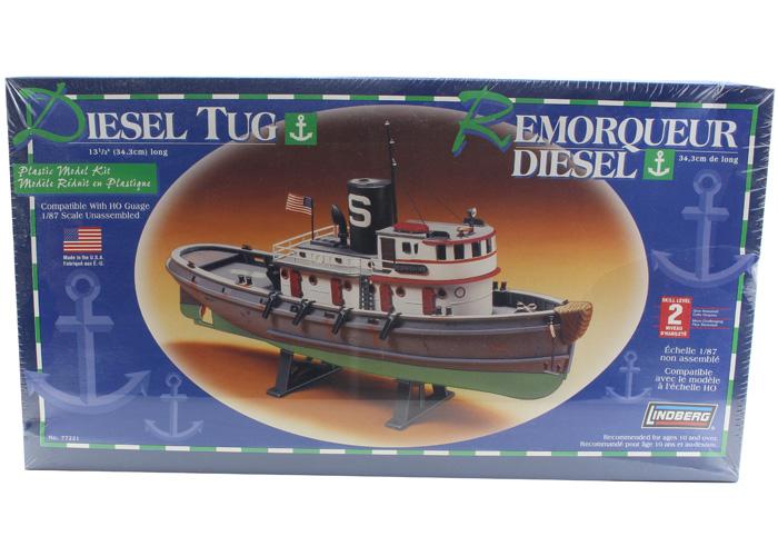 Byggmodell båt - Diesel Tug Boat - 1:87 - Lindberg