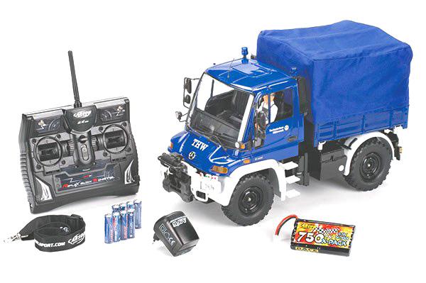 RC lastbil - THW Unimog U300 Blue 2,4GHz - 1:12 - Carsson