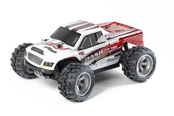 Radiostyrd bil - 1:18 - Monster Dash 4wd - 2,4Ghz - RTR