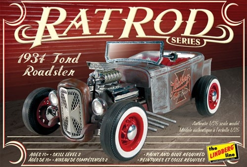 Byggmodell - 1934 Ford Roadster Rat Rod - 1:25 - LB