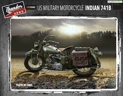 Byggmodell motorcyckel - US Military Motorcycle Indian 741B - 1:35 - TM