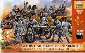Byggmodell - Svenskt Artilleri Karl XII - 1:72 - Zv