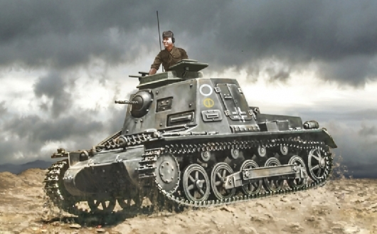 Byggmodell Stridsfordon - Sd.Kfz..265 liten panzarbefälsvagn -  1:72 - IT
