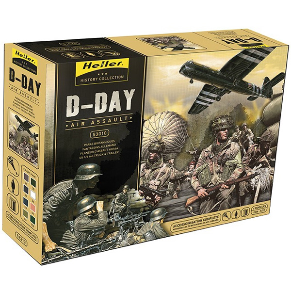 D-Day Airassault (4 models in 1 incl. glue,paint,brush) - 1:72 - He