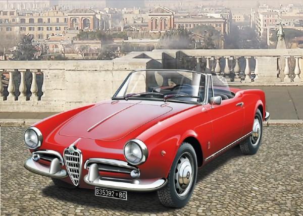 Byggmodell bil - Alfa Romeo Giuletta Spider 1300 - 1:24 - IT