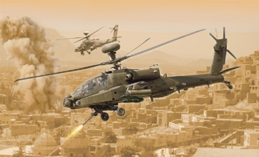 Byggmodell helikopter - AH-64D Apache Longbow - 1:48 - IT