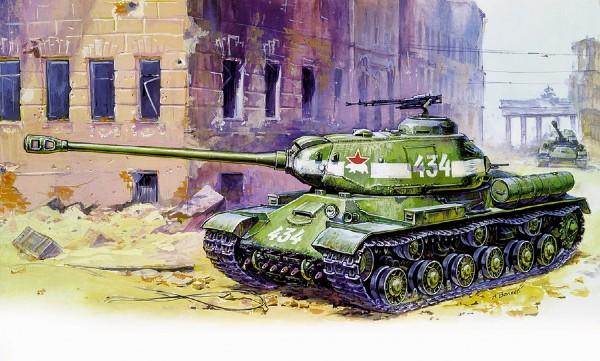 Byggmodell Stridsvagn - Josef Stalin-2 heavy tank - 1:35 - Zv
