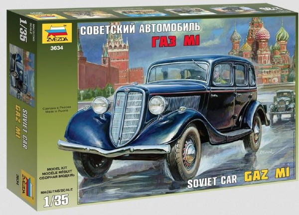 Byggmodell bilar - GAZ M1 Soviet Staff Car - 1:35 - Zv
