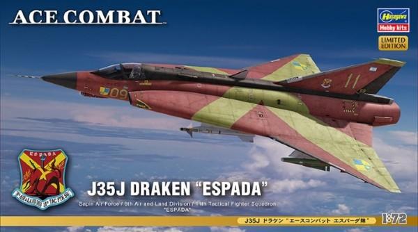 Byggmodell flygplan - J35J Draken,  ACE Combat Espada - 1:72 - HG