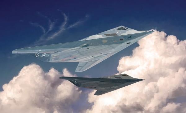 Byggmodell flygplan - F-117A Nighthawk - 1:48 - IT