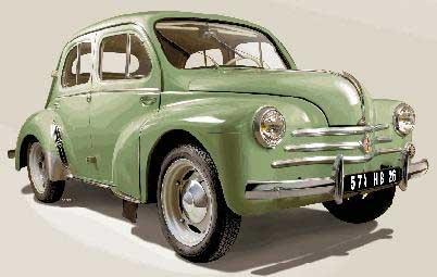 Byggmodell bil - Renault 4 CV - 1:24 - He