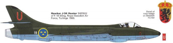 Byggmodell flygplan - J34 Hawker Hunter F.6/FGA.9 - incl. DECAL SE  -1:48 - Ac