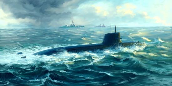Byggmodell Ubåt - Japanese Soryu Class Attack Submarine - 1:144 - Tr