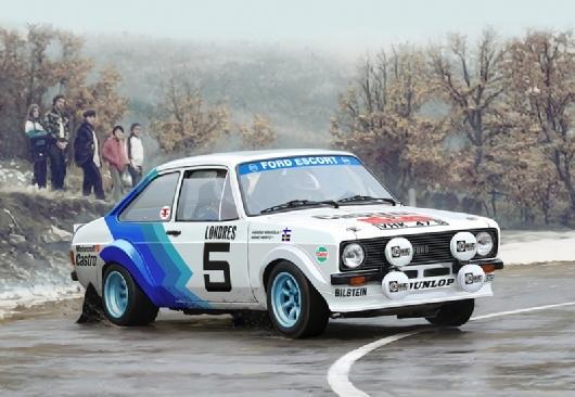 Byggmodell bil - Ford Escort Mk.II - decal Hannu Mikkola and Arne Hertz - 1:24 - IT