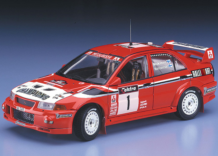 Byggmodell bil - Mitsubishi Lancer Evolution VI 1999 WRC - 1:24 - HG
