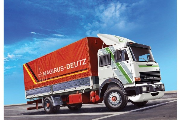 Byggmodell lastbil - Magiruz Deutz 360M19 Canvas Truck - 1:24 - IT