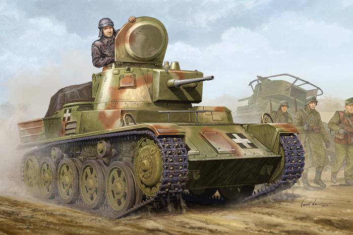 Byggmodell stridsvagn - Hungarian Light Tank 38M Toldi II(B40) SE - 1:35 - HB