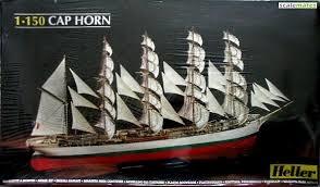 Byggmodell segelbåt - Cap Horn 74 cm - 1:150 - He
