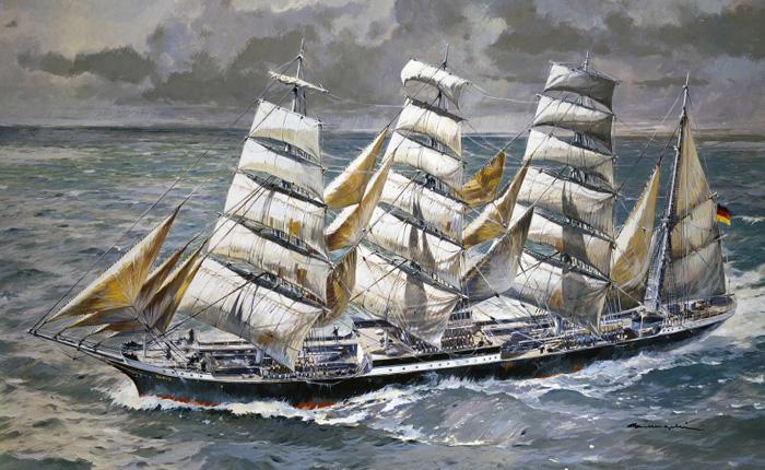 Byggmodell segelbåt - Pamir  90 cm - 1:150 - He