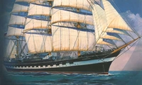 Byggmodell segelbåt - Krusenstern 57,3 cm - 1:200 - Zv