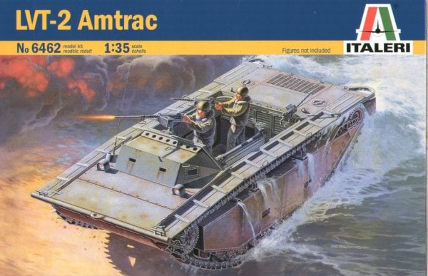 Byggmodell stridsfordon - LVT-2 Amtrac - 1:35