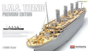 Byggmodell Båt - R.M.S Titanic Premium Edition med LED - 1:400 - Academy