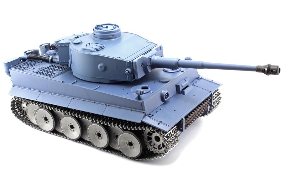Radiostyrd stridsvagn - 1:16 - TigerTank V6 METALL Upg. - 2,4Ghz - s.airg. rök & ljud - RTR
