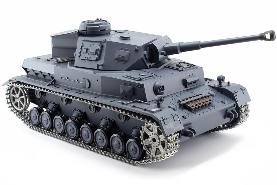 Radiostyrd stridsvagn - 1:16 - Pz.Kpfw.IV Ausf.F-2 V6 - 2,4Ghz - Metall - s.airg. rök & ljud - RTR