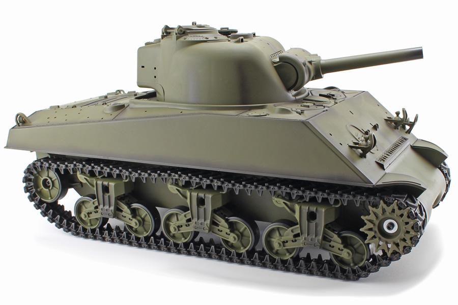 Radiostyrd stridsvagn - 1:16 - Sherman V6 - 2,4Ghz - s.airg. rök & ljud - RTR