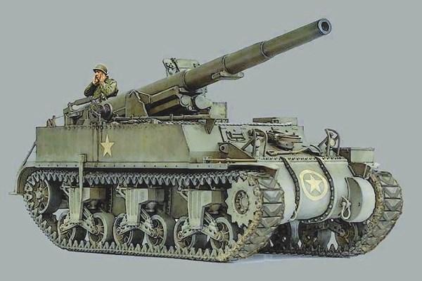 Byggmodell stridsfordon - M12 GMC - 1:72 - Italieri