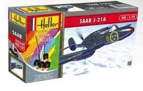 Byggmodell flygplan - SAAB J21 - 1:72 - Heller
