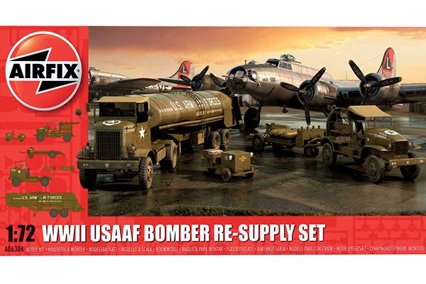 Byggmodell diorma - USAAF 8TH Airforce Bomber Resupply Set - 1:72 - AirFix