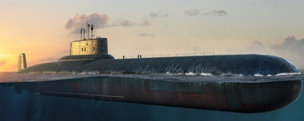 Byggmodell ubåt - Russian Navy Thypoon Class SSBN - 1:350 - Hobby Boss