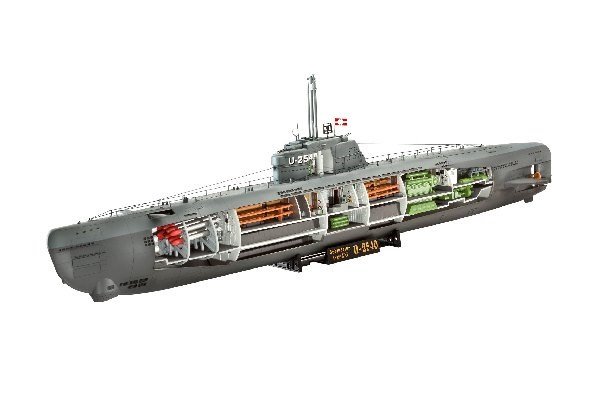 Byggmodell ubåt - U-Boat XXI Type w, Interiör - 1:144 - Revell