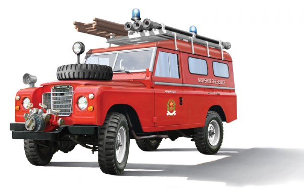 Byggmodell bil - Land Rover Fire Truck - 1:24 - Italieri