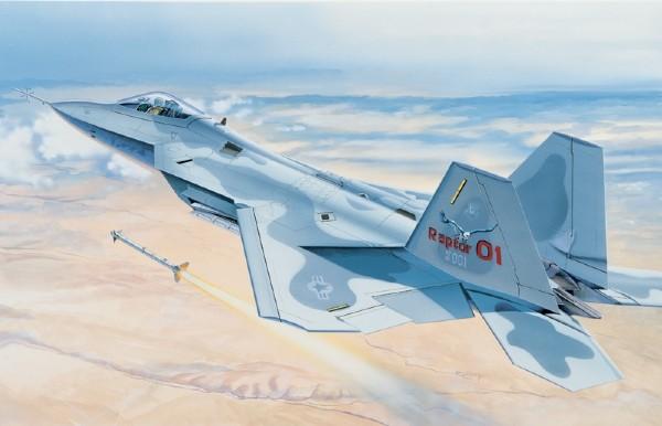 Byggmodell flygplan - F-22 Raptor 1:48 Italieri