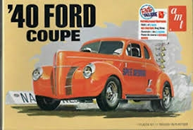 Byggmodell bil - 1940 Ford Coupe 2T - 1:25 - AMT